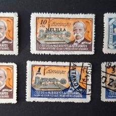 Sellos: 6 SELLOS HUÉRFANOS DE TELÉGRAFOS, 2 SOBRECARGADO CEUTA Y MELILLA. Lote 183895948