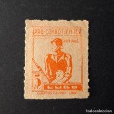 Sellos: SELLO PRO COMBATIENTES LUGO 5 CTS. Lote 183899461