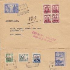 Sellos: CANARIAS. TRES SOBRES CON PATRIÓTICOS CIRCULADOS DE STA. CRUZ A LAS PALMAS EN 1931.. Lote 184075033