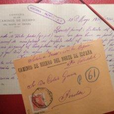 Sellos: COMPAÑÍA DE LOS CAMINOS DE HIERRO AMBULANTE A LEÓN-VALLADOLID 1938. Lote 184135805