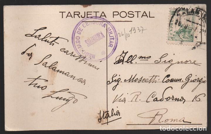 SALAMANCA,. PLAZA MAYOR.--C.M. NEGOCIADO DE CENSURA MILITAR-- MUY RARA, VER FOTO (Sellos - España - Guerra Civil - De 1.936 a 1.939 - Usados)