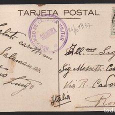 Sellos: SALAMANCA,. PLAZA MAYOR.--C.M. NEGOCIADO DE CENSURA MILITAR-- MUY RARA, VER FOTO. Lote 184386962