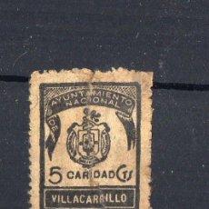 Sellos: VILLACARRILLO AYUNTAMIENTO NACIONAL. CARIDAD 5 CTS. Lote 184413342