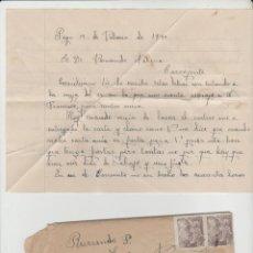 Sellos: LOTE B CARTA AÑO 1940 SELLOS VALENCIA. Lote 184630168
