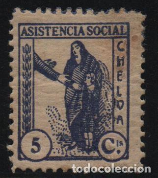 CHELVA-VALENCIA- 5 CTS-ASISTENCIA SOCIAL-- SOFIMA Nº 1, VER FOTO (Sellos - España - Guerra Civil - De 1.936 a 1.939 - Usados)