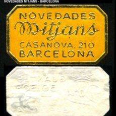 Sellos: VIÑETA / ETIQUETA - NOVEDADES MITJANS - BARCELONA - REF802. Lote 184762746