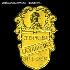 Sellos: VIÑETA / ETIQUETA - CRISTALERÍA LA VIRREINA - (BARCELONA) - REF807. Lote 184764088