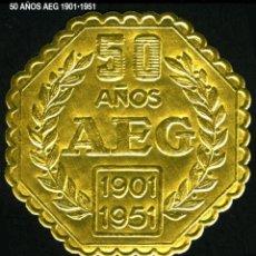 Sellos: VIÑETA / ETIQUETA - ANIVERSARIO 50 AÑOS AEG -1901•1951 - REF810. Lote 184765470