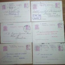 Sellos: BONITO LOTE DE 6 TARJETAS POSTALES DE LA 2ª REPÚBLICA ESPAÑOLA (1932, 1935 Y 1936). Lote 184799775