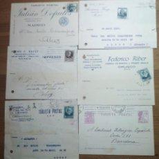 Sellos: BONITO LOTE DE 6 TARJETAS POSTALES - 5 PRIVADAS Y 1 DE LA 2ª REPÚBLICA ESPAÑOLA (1933 A 1936). Lote 184800387