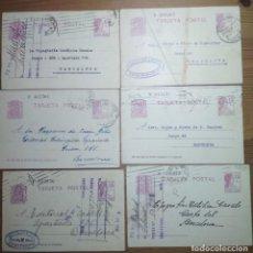 Sellos: BONITO LOTE DE 6 TARJETAS POSTALES DE LA 2ª REPÚBLICA ESPAÑOLA (1932, 1933 Y 1936). Lote 184799616