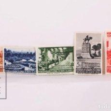 Sellos: SELLOS - AYUNTAMIENTO DE BARCELONA - EDIFIL 14/18 - FERIA DE BARCELONA 1936 - NUEVO - SIN FIJASELLOS. Lote 184932583