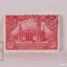Sellos: SELLO - COLEGIO DE HUÉRFANOS DE TELÉGRAFOS / PALACIO DE COMUNICACIONES - EDIFIL Nº 9 - USADO. Lote 184950235
