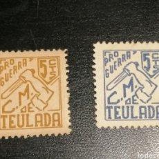 Sellos: VIÑETAS GUERRA CIVIL TEULADA BANDO REPÚBLICA. Lote 185730028