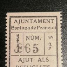 Sellos: VIÑETA GUERRA CIVIL ESPLUGA DE FRANCOLI. Lote 185731066