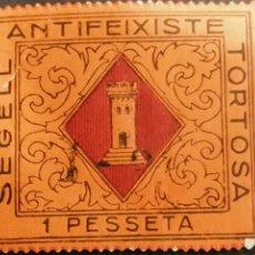 Sellos: VIÑETA DE LA GUERRA CIVIL TORTOSA ZONA REPUBLICANA. Lote 185734432