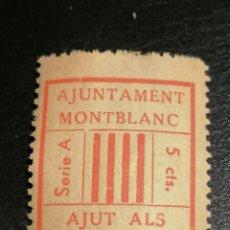 Sellos: VINYETA MONTBLANC GUERRA CIVIL BANDO REPUBLICANO. Lote 185738943
