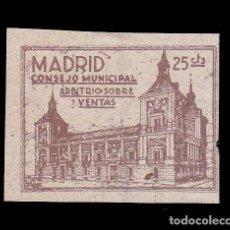 Sellos: *** MADRID CONSEJO MUNICIPAL, ARBITRIO SOBRE VENTAS 25 CTS, SERIE A. FESOFI 65 ***. Lote 185788918