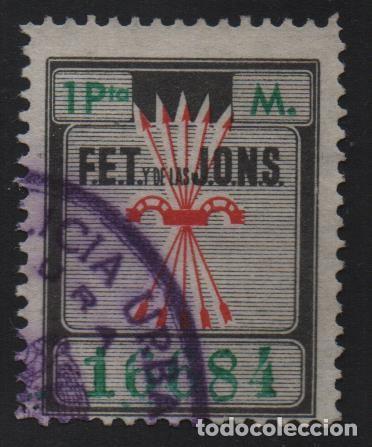 MADRID--M-- 1 PTA, F.E.T. DE LAS J.O.N.S. VER FOTO (Sellos - España - Guerra Civil - De 1.936 a 1.939 - Usados)