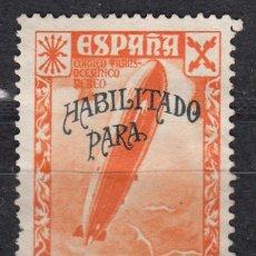 Sellos: BENEFICENCIA EDIFIL 44(*) NUEVO SIN GOMA. HABILITADO HISTORIA DEL CORREO. AÑO 1940. Lote 185922032