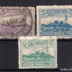 Sellos: ESPAÑA GUERRA CIVIL CADIZ - 17/7. Lote 185947408
