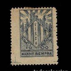 Sellos: VN1-C15-6 NACIONALISTAS SEPARATISTAS 1900 VISCA AVANT SEMPRE NATHAN Nº 15 AZUL OSCURO SOBRE PAPEL BE. Lote 186128605