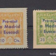 Sellos: GRAMANET DEL BESOS (MADRID). EDIFIL 14/15 *. Lote 186133318