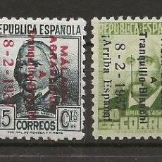 Sellos: R37/ ESPAÑA, SERIE 25/28 MH*, MALAGA. Lote 186168461