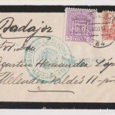 Sellos: SOBRE. ALGECIRAS. CENSURA MILITAR. 1937. SELLO LOCAL SOBRECARGADO. CÁDIZ. Lote 187446162