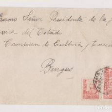 Timbres: SOBRE. ORENSE. SELLO LOCAL. 1937. AMBULANTE EXPRESSO. A BURGOS. RARA. Lote 187446931