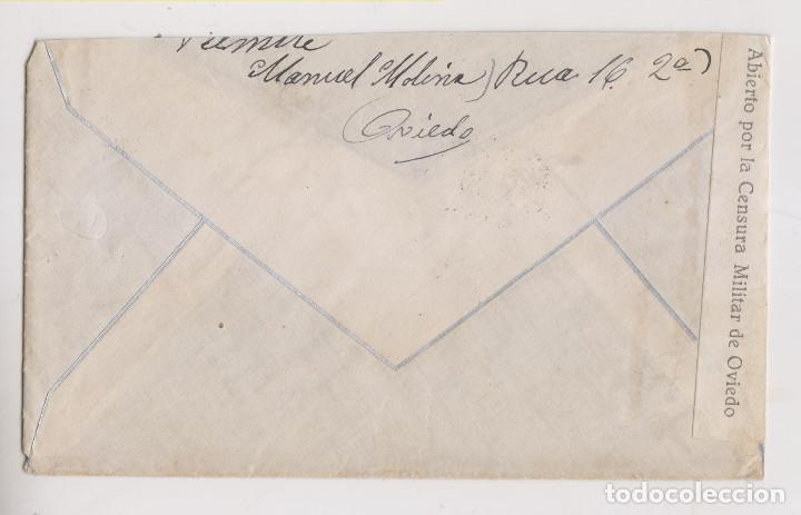 Sellos: SOBRE. CENSURA MILITAR OVIEDO. RARA. A RAICEDO, LUARCA. ASTURIAS. LOCAL - Foto 2 - 187447392