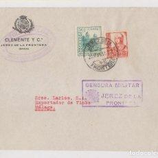 Sellos: SOBRE. CENSURA MILITAR. JEREZ DE LA FRONTERA, 1937. SELLO LOCAL. CÁDIZ. Lote 187447633