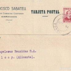 Sellos: BONITA TARJETA POSTAL DE INICICIATIVA PRIVADA CON SELLO DE PAPELERAS COLECTIVIZADAS (GUERRA CIVIL). Lote 187537158