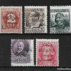 Sellos: ESPAÑA GUERRA CIVIL VIVA ESPAÑA BURGOS ** - 3/11. Lote 188722161