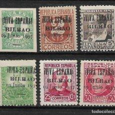 Sellos: ESPAÑA GUERRA CIVIL VIVA ESPAÑA BILBAO ** - 3/11. Lote 188722433