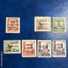 Francobolli: LOTE DE 1937 CANARIAS EDIFIL 23, 25, 26, 27, 28, 29 Y 30, NUEVOS** MNH. Lote 189079197