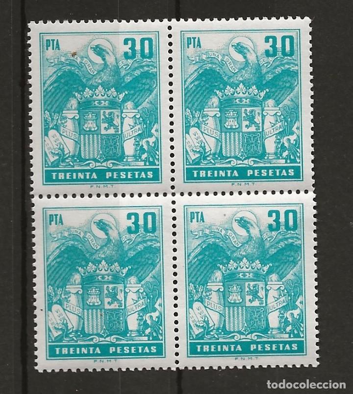 .G-SUB_2 / FISCAL POLIZA 734 MNH**, 30 PTA, AGUILA (Sellos - España - Guerra Civil - De 1.936 a 1.939 - Nuevos)