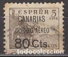 CANARIAS EDIFIL Nº 25, SOBRECARGA DE CORREO AEREO 80 C. , USADO (Sellos - España - Guerra Civil - De 1.936 a 1.939 - Usados)