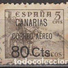 Sellos: CANARIAS EDIFIL Nº 25, SOBRECARGA DE CORREO AEREO 80 C. , USADO. Lote 189632495