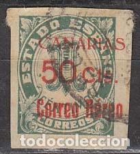 CANARIAS EDIFIL Nº 37, SOBRECARGADO CANARIAS 50 CTS CORREO AEREO, USADO (Sellos - España - Guerra Civil - De 1.936 a 1.939 - Usados)