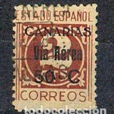 Sellos: CANARIAS EDIFIL Nº 44, SOBRECARGA: VIA AEREA 50 C, USADO. Lote 189632890