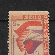 Sellos: ESPAÑA - GUERRA CIVIL - VILLANUEVA ANTIFASCISTA * - 15/10. Lote 190002650