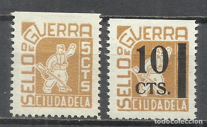 Q539E-SELLOS LOCALES ESPAÑA GUERRA CIVIL SERIE COMPLETA CIUDADELA MENORCA BALEARES,CON HABILITADO.N (Sellos - España - Guerra Civil - De 1.936 a 1.939 - Nuevos)