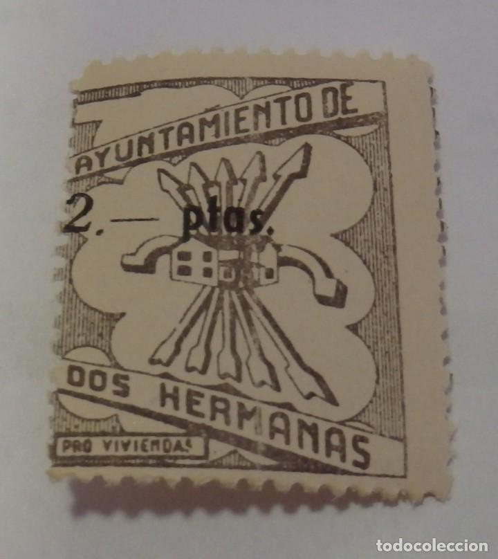 DOS HERMANAS, (SEVILLA) , 2 PTAS, -PRO-VIVIENDA-NUEVO, CON GOMA (Sellos - España - Guerra Civil - De 1.936 a 1.939 - Nuevos)