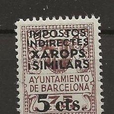 Sellos: .G-SUB_6/ BARCELONA, FISCALES XAROPS I SIMILARS, SOBRECARGADOS 5 CTS. MNH**. Lote 190417185