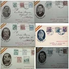Sellos: 8 TARJETAS POSTAL PATRIÓTICA ARANDA,SANJURJO,MOLA,RIVERA,YAGUE LOCALES PRO SEVILLA MÁLAGA HABILITADO. Lote 244822060