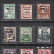 Sellos: EMISIONES LOCALES PATRIÓTICAS, BILBAO, LOTE DE SELLOS, LUTO POR LA MUERTE DEL GENERAL MOLA. Lote 190545933