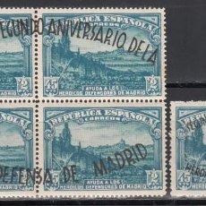 Timbres: ESPAÑA, 1938 EDIFIL Nº 789 / 790 /**/, ANIVERSARIO DE LA DEFENSA DE MADRID, SIN FIJASELLOS . Lote 190561525