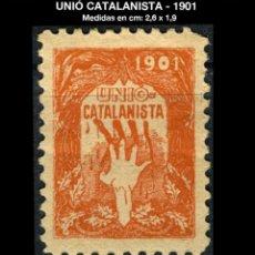 Sellos: VIÑETA - UNIÓ CATALANISTA - 1901 - REF884. Lote 190575091