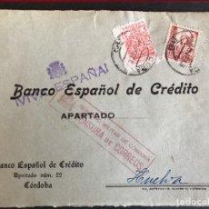 Sellos: FRONTAL DE SOBRE CENSURA MILITAR DE CORDOBA. Lote 190579062